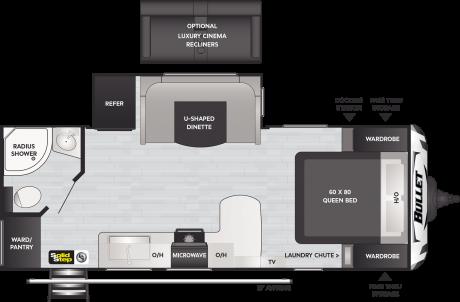 Keystone RV BULLET 221RBS TRAVEL TRAILER 2021