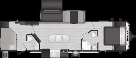 Keystone RV BULLET 330BHS TRAVEL TRAILER 2021