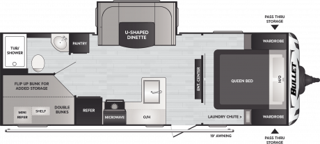 Keystone RV BULLET 2430BH CROSSFIRE TRAVEL TRAILER 2021