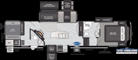 Keystone RV COUGAR 364BHL FIFTH WHEEL 2021