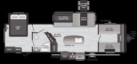 Keystone RV HIDEOUT 32FBTS TRAVEL TRAILER 2021