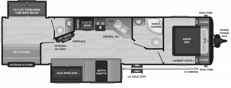 Keystone RV HIDEOUT 338LHS TRAVEL TRAILER 2021