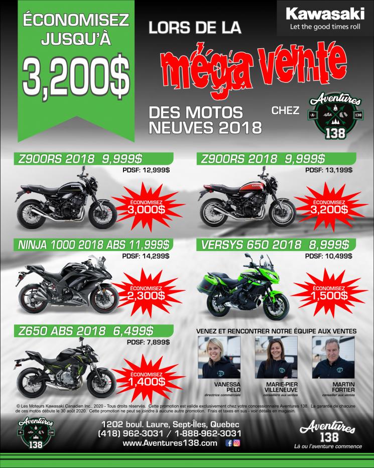 Méga Vente de motos Kawasaki
