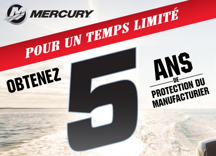Mercury Marine – 5 ans de protection